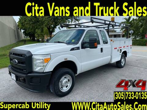 2012 FORD F-350 SD  SRW SUPERCAB *4X4** UTILITY TRUCK* for sale at Cita Auto Sales in Medley FL
