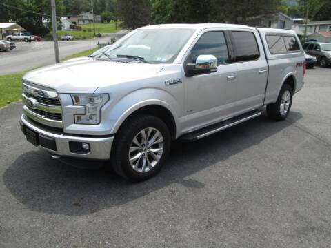 2015 Ford F-150 for sale at WORKMAN AUTO INC in Pleasant Gap PA