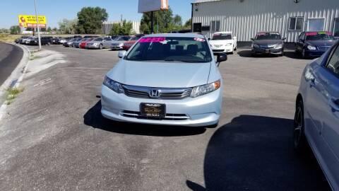 2012 Honda Civic for sale at BELOW BOOK AUTO SALES in Idaho Falls ID
