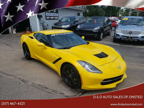 2014 Chevrolet Corvette for sale at D & D Auto Sales Of Onsted in Onsted MI