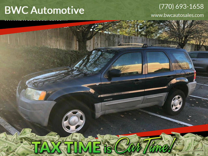 2002 Ford Escape for sale at BWC Automotive in Kennesaw GA
