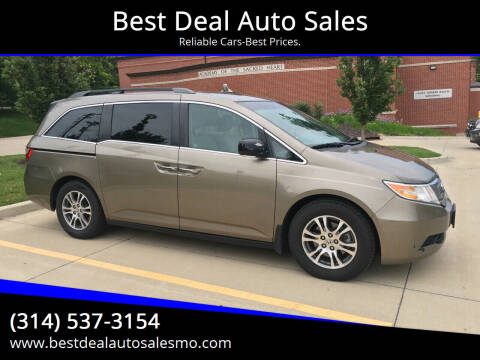 2012 Honda Odyssey for sale at Best Deal Auto Sales in Saint Charles MO