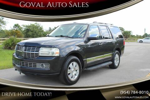 2007 Lincoln Navigator for sale at Goval Auto Sales in Pompano Beach FL