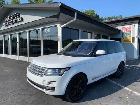 2017 Land Rover Range Rover for sale at Prestige Pre - Owned Motors in New Windsor NY