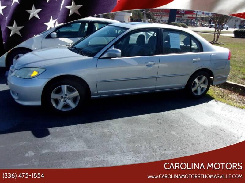 2004 Honda Civic for sale at CAROLINA MOTORS in Thomasville NC
