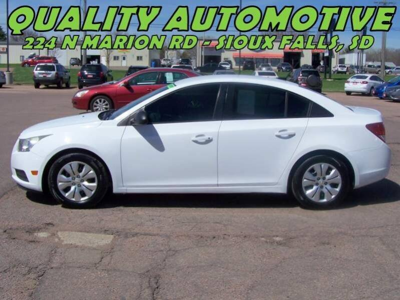 2013 Chevrolet Cruze for sale at Quality Automotive in Sioux Falls SD