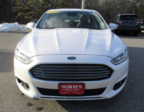 2013 Ford Fusion for sale at NORM'S USED CARS INC in Wiscasset ME