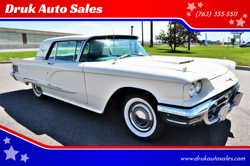 1960 Ford Thunderbird for sale at Druk Auto Sales in Ramsey MN