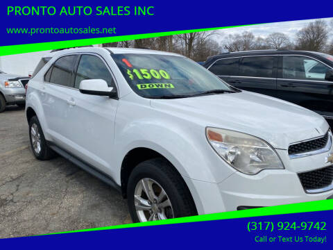 2011 Chevrolet Equinox for sale at PRONTO AUTO SALES INC in Indianapolis IN