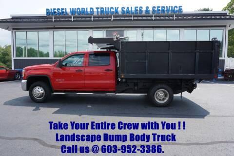 2015 GMC Sierra 3500HD CC for sale at Diesel World Truck Sales - Dump Truck in Plaistow NH