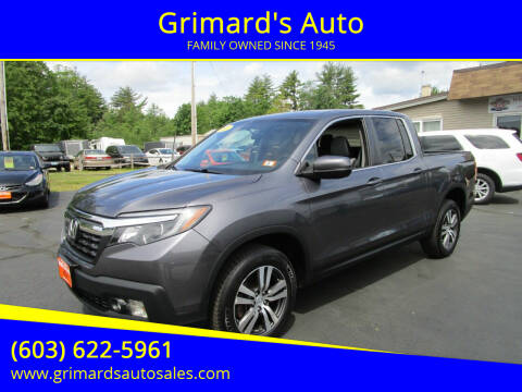 2017 Honda Ridgeline for sale at Grimard's Auto in Hooksett NH