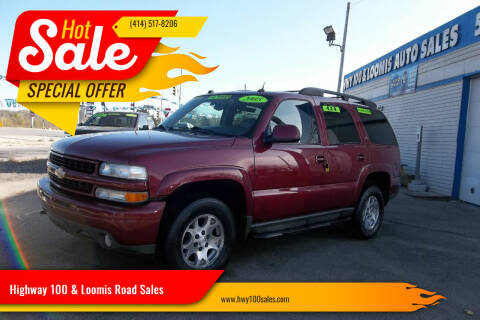 2005 Chevrolet Tahoe for sale at Highway 100 & Loomis Road Sales in Franklin WI