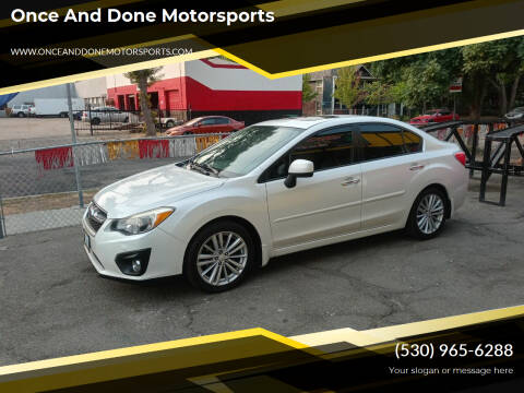 2013 Subaru Impreza for sale at Once and Done Motorsports in Chico CA