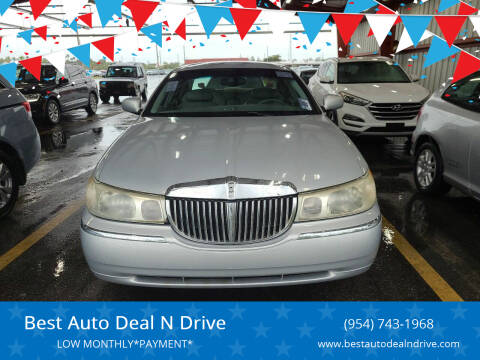 2001 Lincoln Town Car for sale at Best Auto Deal N Drive in Hollywood FL