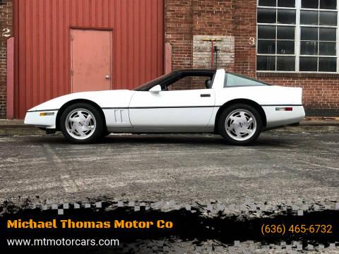 1989 Chevrolet Corvette for sale at Michael Thomas Motor Co in Saint Charles MO