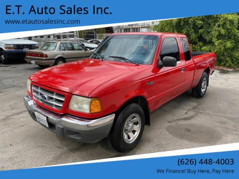2001 Ford Ranger for sale at E.T. Auto Sales Inc. in El Monte CA