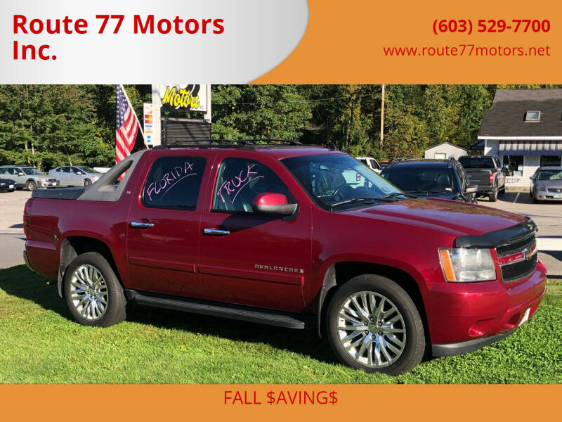 2007 Chevrolet Avalanche for sale at Route 77 Motors Inc. in Weare NH