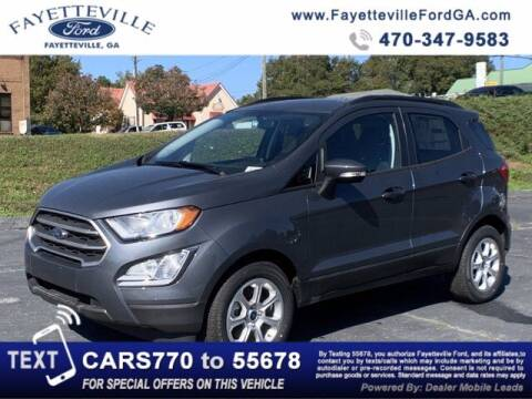 2020 Ford EcoSport for sale at FAYETTEVILLEFORDFLEETSALES.COM in Fayetteville GA