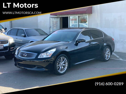 2007 Infiniti G35 for sale at LT Motors in Rancho Cordova CA