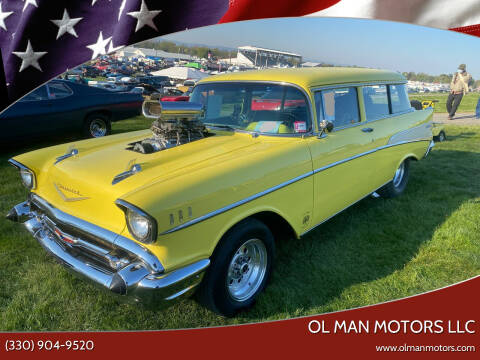1957 Chevrolet Bel Air for sale at Ol Man Motors LLC in Louisville OH