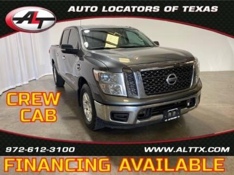 2017 Nissan Titan for sale at AUTO LOCATORS OF TEXAS in Plano TX