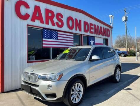 2016 BMW X3 for sale at Cars On Demand 3 in Pasadena TX