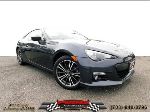 2013 Subaru BRZ for sale at PRIME MOTORS LLC in Arlington VA