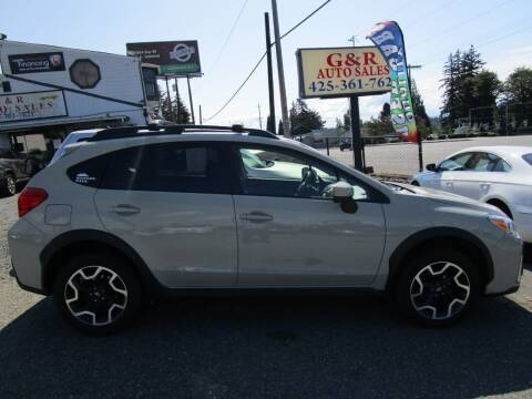 2016 Subaru Crosstrek for sale at G&R Auto Sales in Lynnwood WA