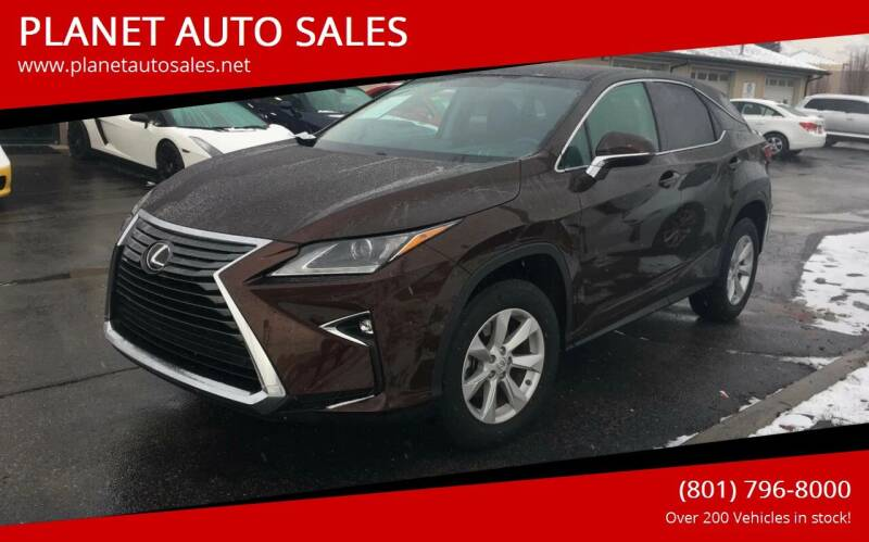 2016 Lexus RX 350 for sale at PLANET AUTO SALES in Lindon UT