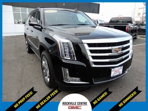 2016 Cadillac Escalade ESV for sale at Rockville Centre GMC in Rockville Centre NY