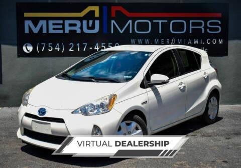 2014 Toyota Prius c for sale at Meru Motors in Hollywood FL