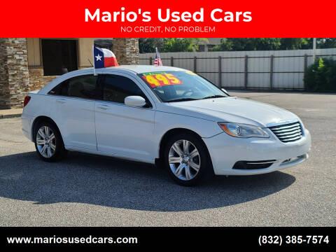 2012 Chrysler 200 for sale at Mario's Used Cars - Pasadena Location in Pasadena TX