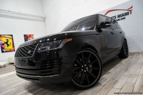 2018 Land Rover Range Rover for sale at AUTO IMPORTS MIAMI in Fort Lauderdale FL