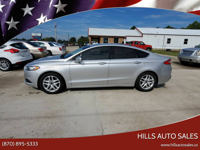 2016 Ford Fusion for sale at Hills Auto Sales in Salem AR