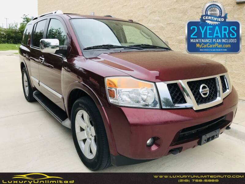2011 Nissan Armada for sale at LUXURY UNLIMITED AUTO SALES in San Antonio TX