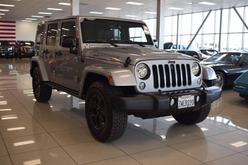 2015 Jeep Wrangler Unlimited for sale at Legend Auto in Sacramento CA