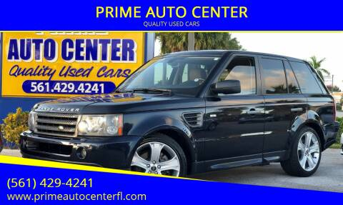 2009 Land Rover Range Rover Sport for sale at PRIME AUTO CENTER in Palm Springs FL