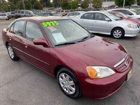 2003 Honda Civic for sale at Pacific Point Auto Sales in Lakewood WA