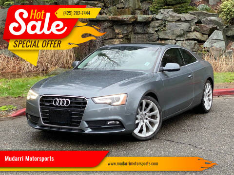2014 Audi A5 for sale at Mudarri Motorsports in Kirkland WA