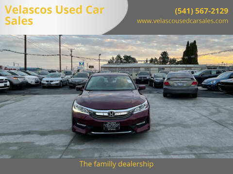 2016 Honda Accord for sale at Velascos Used Car Sales in Hermiston OR