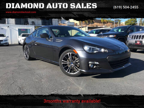 2013 Subaru BRZ for sale at DIAMOND AUTO SALES in El Cajon CA