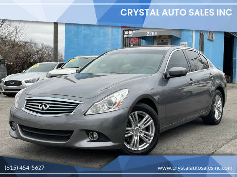 2012 Infiniti G37 Sedan for sale at Crystal Auto Sales Inc in Nashville TN