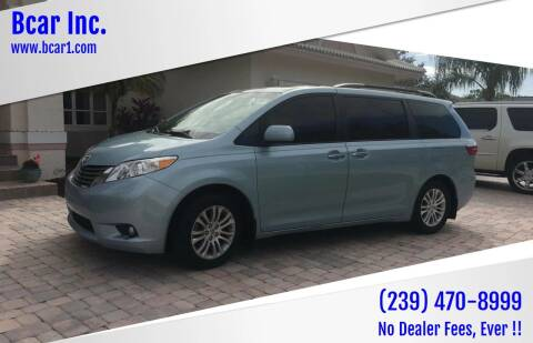 2015 Toyota Sienna for sale at Bcar Inc. in Fort Myers FL