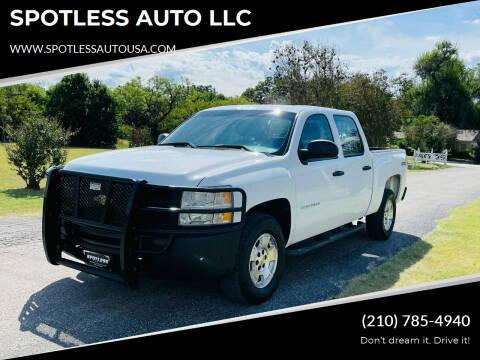 2011 Chevrolet Silverado 1500 for sale at SPOTLESS AUTO LLC in San Antonio TX