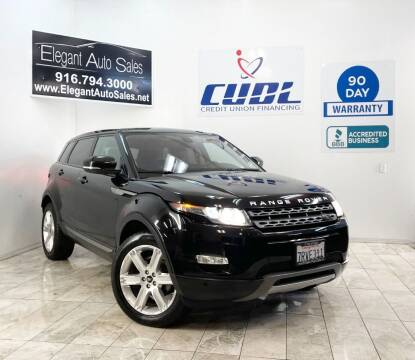 2013 Land Rover Range Rover Evoque for sale at Elegant Auto Sales in Rancho Cordova CA