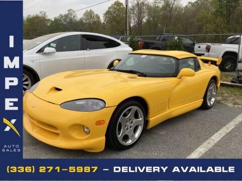 2001 Dodge Viper for sale at Impex Auto Sales in Greensboro NC