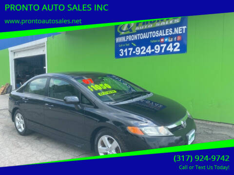 2007 Honda Civic for sale at PRONTO AUTO SALES INC in Indianapolis IN
