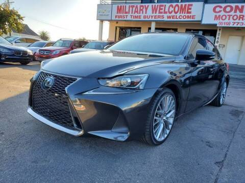 2017 Lexus IS 200t for sale at Convoy Motors LLC in National City CA
