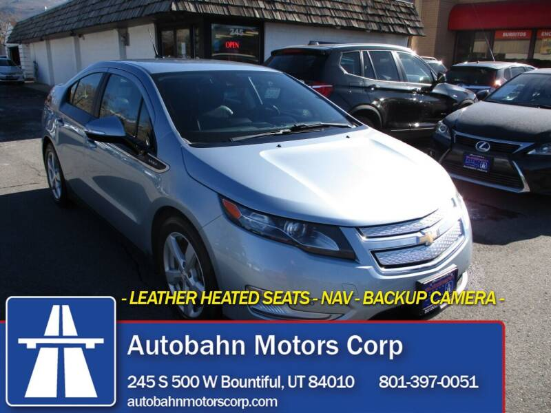 2014 Chevrolet Volt for sale at Autobahn Motors Corp in Bountiful UT