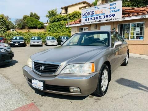 2002 Acura RL for sale at MotorMax in Lemon Grove CA